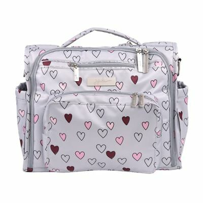 Ju Ju Be BFF Baby Diaper Bag Backpack w/ Changing Pad  Happy Hearts Very limited