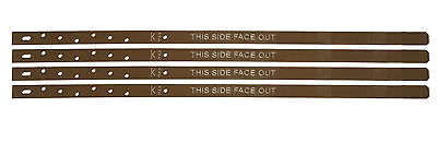 Post Buddy System - Pack of 4 Powder Coated Mild Steel Fence Post Repair Stakes
