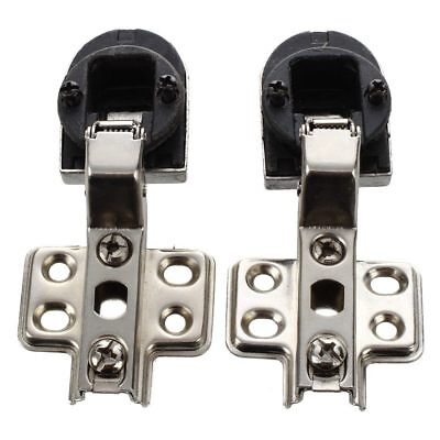 "PF Pair 1"" Plastic Glass Door 90 degree Angle Concealed Hinge Connector"