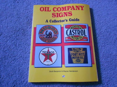 Oil Company Signs A Collector'S Guide By Benjamin & Henderson Reference Info