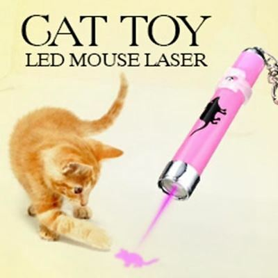 2016 Creative and Funny Pet Cat Toys LED Pointer light Pen With Bright Animation