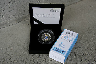 Peter Rabbit Black Box Silver Proof 50p Coin