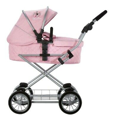 Silver Cross Sleepover Travel System Dolls Pram - Vintage Pink Fabric
