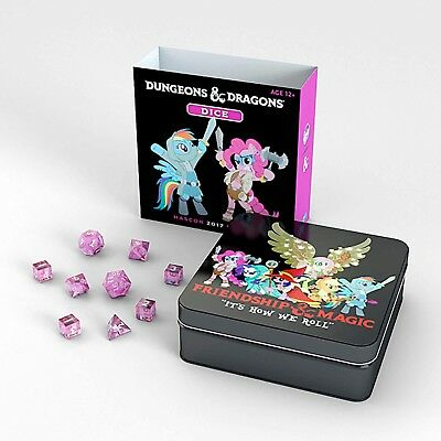 Hascon Dungeons & Dragons My Little Pony Dice Tin  New  Ship Worldwide