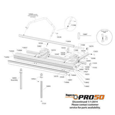 Tapco Pro 50 Replacement Parts