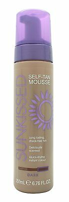 Sunkissed Instant Self-Tanning Mousse 200ml-Dark