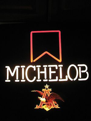 Michelob Anheuser Busch Light Lighted Beer Pub Bar Sign St Louis Mo