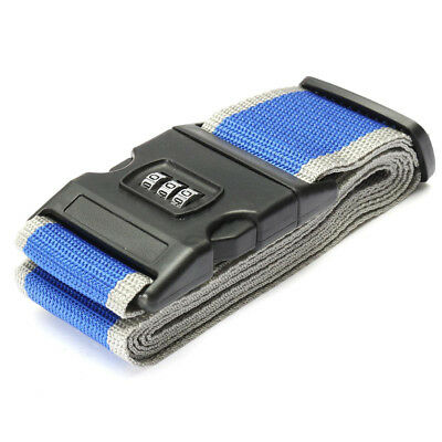 PF Safety belt Belt Lock Combination Travel Luggage Suitcase band color:Blue + G