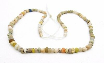 Ancient Glass Beaded Necklace - Very Rare Wearable Artifact Stunning - P28