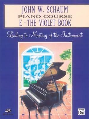 John W. Schaum: Piano Course E - The Violet Book EL00170A