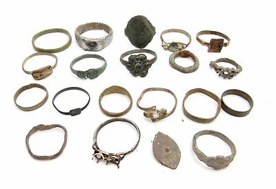 Lot Of 20 Rings And Fragments  To Clean/restore - Ancient Historic Lovely - P31