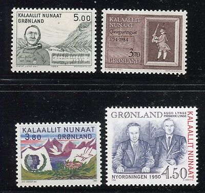 Greenland 1984/98 Famous People/events/intl Youth Year/danish Parliament Mnh