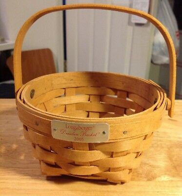 Collectible Longaberger 2005 Dresden Basket Moveable Handle