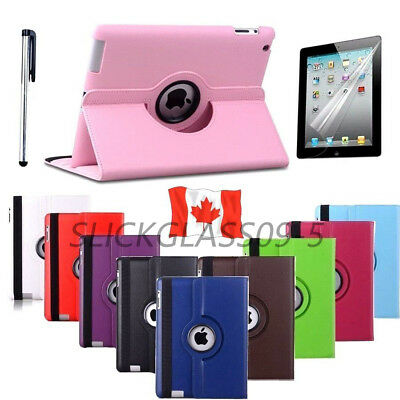 Rotating Stand Leather iPad Case Cover For iPad 2 3 4 Mini 2 3 4 Air  2