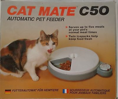 Cat Mate C50 Automatic Pet Feeder For A Cat Kitten Puppies Small Dog