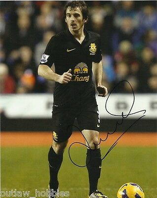 Everton Leighton Baines Autographed Signed 8x10 Photo COA
