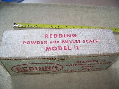 Redding Powder and Bullet Scale Model #1 with Box