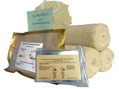inch loss/slimming body clay powder 300gms And 3 Contour Body Wrap bandages kit