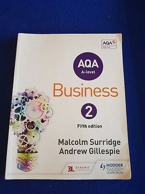 AQA Business for A Level 2 (Paperback), Surridge, Malcolm, Gilles. 9781471835780