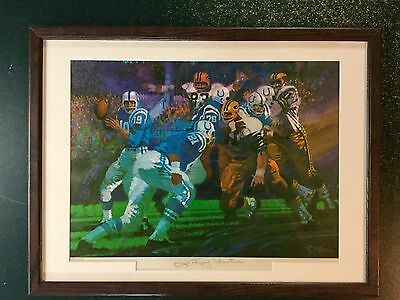 LIMITED EDITION Johnny Unitas Signed Lithograph, VINTAGE BALTIMORE COLTS!!