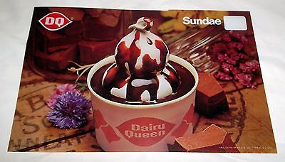 1969 Dairy Queen Plastic Transparency Advertising a Sundae - VERY NICE CONDITION