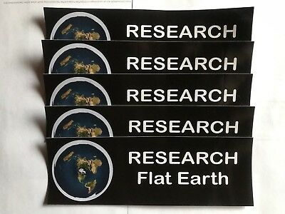 5 Flat Earth Map Bumper Stickers. Help others wake up to the mother of lies!