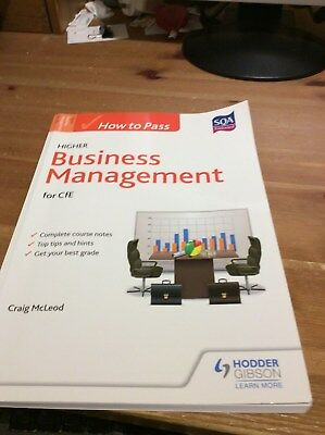 How to Pass Higher Business Management for CfE by Craig McLeod (Paperback, 2015)
