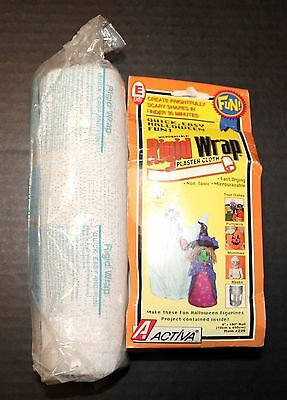 Activa Rigid Wrap Plaster Cloth One 4 X 180 & One 8 x 180 Inches New Craft Rolls