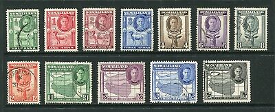 Somaliland Protectorate: 1942 King George VI Set of 12 SG105-116 Fine Used AW051