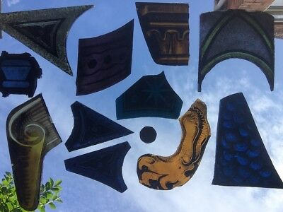 A Selection Of Stained Glass Fragments