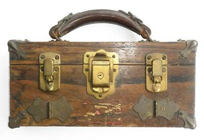 Rare Antique Old Advertising Salesman's Sample Display Trunk Luggage Hardware