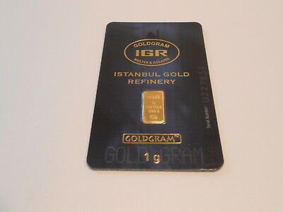 Gold Sale Invest 1 Gram New Sealed Solid Gold Bar