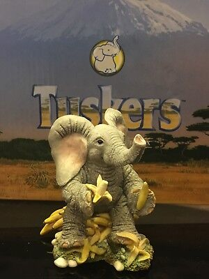 Tuskers Elephants Thanks a Bunch (unboxed) Collectable Figurine Ornament