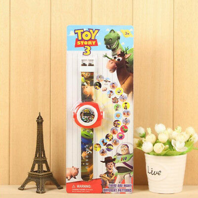 New Movie Toy Story Cartoon Figure Projection Wrist Watch Kids Boy Girl Toy Gift