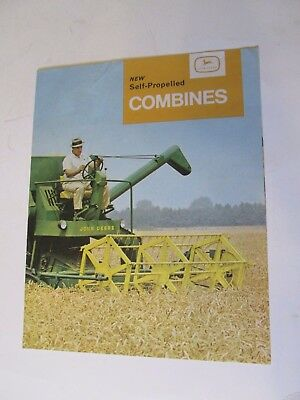 """New John Deere Self Propelled combines"" 430,530,630 sales brochure UK version"