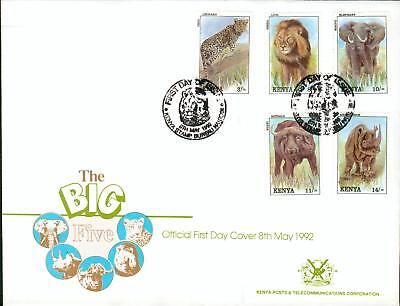 Kenya Michel Nr. 550-554 on FDC wild animals WWF ga90-2