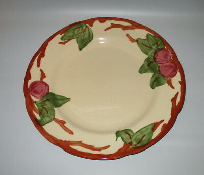 "Franciscan Apple Dinner Plate 10 3/4"" Earthenware England Wedgwood Red Green"