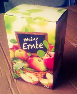 1x 3L Liter Karton Box Apfel Design Vitop Automatikboden Saft Most Obst in Bag