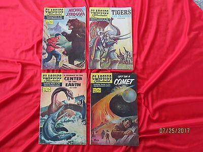 Vintage Classics Illustrated--Lot by Jules Verne--28,138,149,166