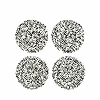 Home Collection Pack Of 4 Silver Beaded Coasters From Debenhams