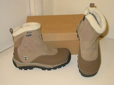 TIMBERLAND RIME RIDGE Waterproof Zip Fleece Lined Beige