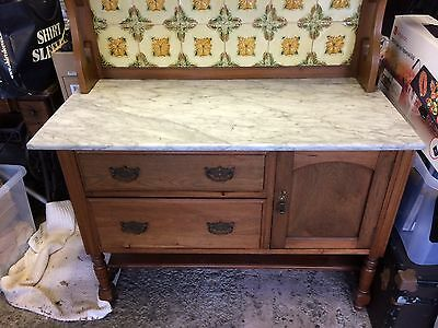 edwardian wash stand with marble top