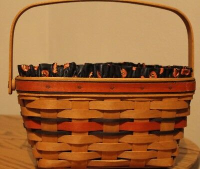 Longaberger Boo Basket with Liner and Protector
