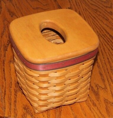Longaberger Father's Day Tissue Basket with protector and lid