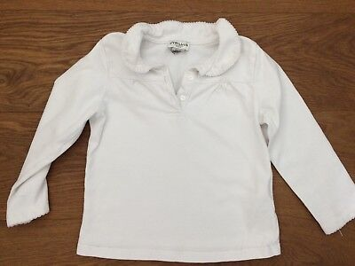 Polo Cyrillus Fille Blouse Blanche 24 36 Mois Col Claudine