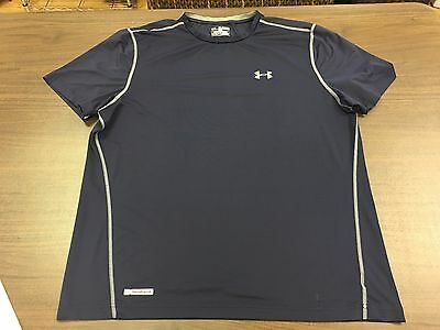 Under Armour Heat Gear Men's Fitted Blue Shirt – 2XL
