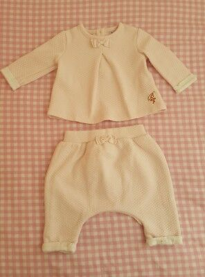 Baby Girls 🌹TED BAKER🌹 0/3 months Pink Quilted Outfit 🌸 2 Piece Set. VGC🌟