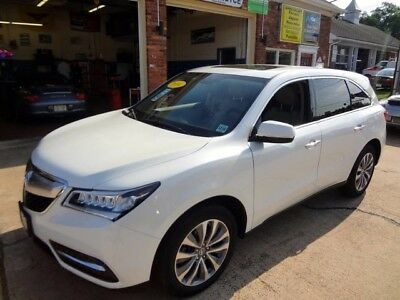 2014 Acura MDX  14 MDX SH-AWD TECH PACKAGE 4 NEW TIRES NAVIGATION WHITE TAN LEATHER INTERIOR