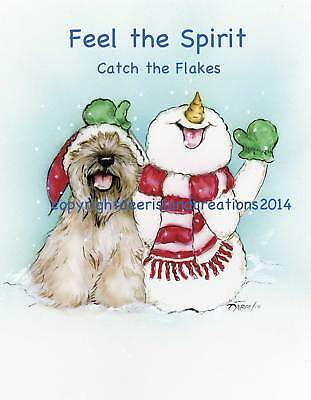 Wheaten Terrier  Spirit Christmas note cards add a short message inside Free