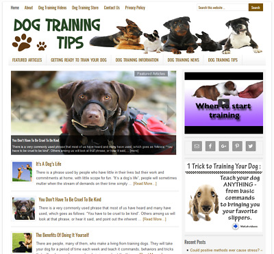 * DOG TRAINING TIPS & ADVICE * website business for sale w/ AUTO CONTENT UPDATES